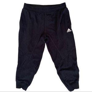 ADIDAS Black Fleece Cropped Joggers Sweats